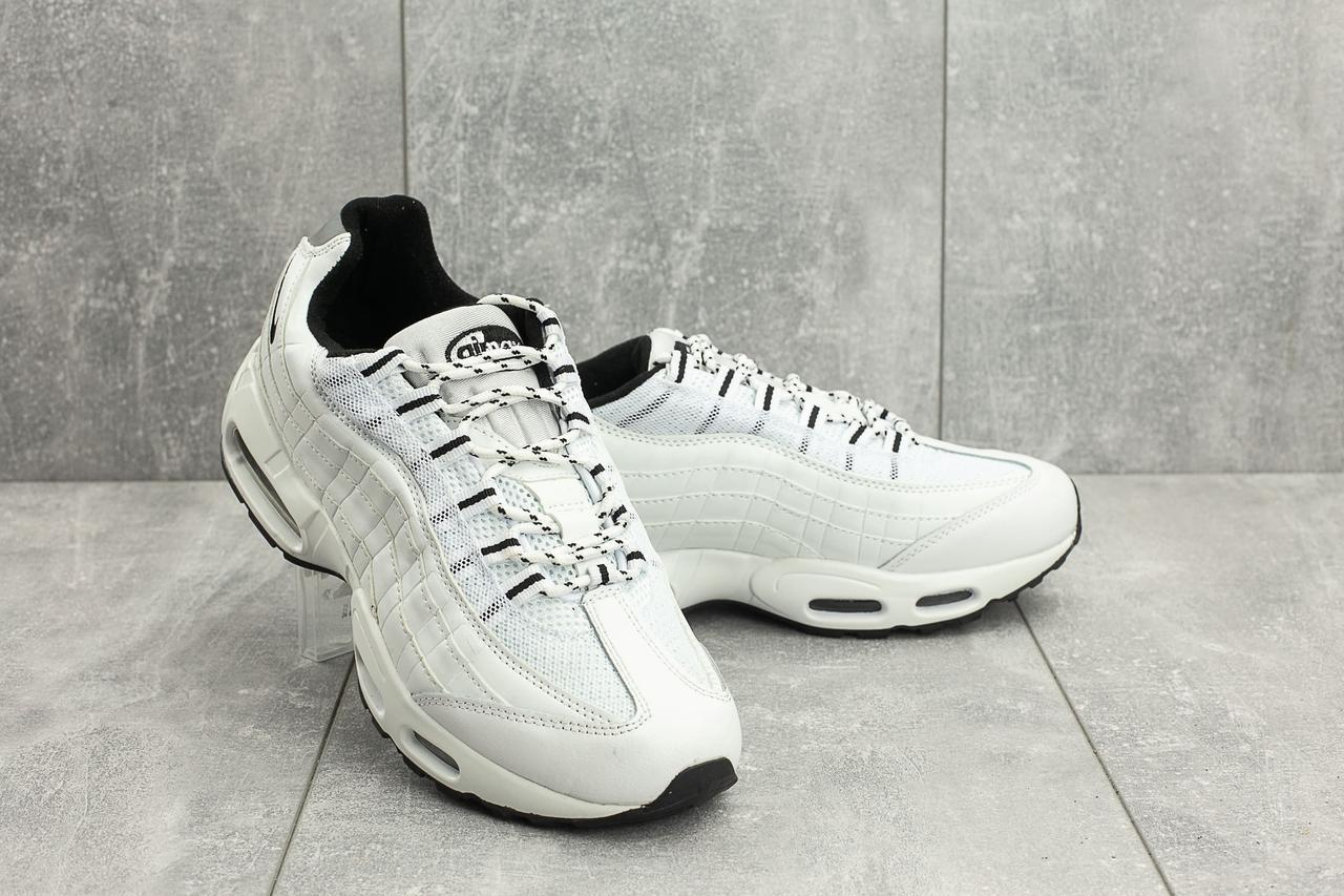 Кроссовки A 95-50 (Nike Air Max 95) (весна/осень, мужские, искусственная кожа, бело-черные)