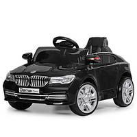 Детский электромобиль БМВ BMW M 3271 EBLR-2 черный (красный, белый). Колеса EVA, кож. сиденье, свет, USB, MP3.
