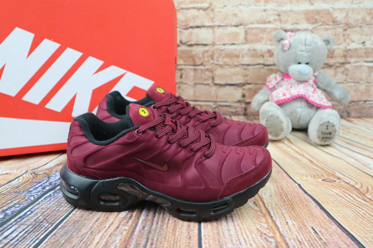 Кроссовки TN К 703 -6 (Nike Air Max) (весна/осень, женские, текстиль, бордовый)