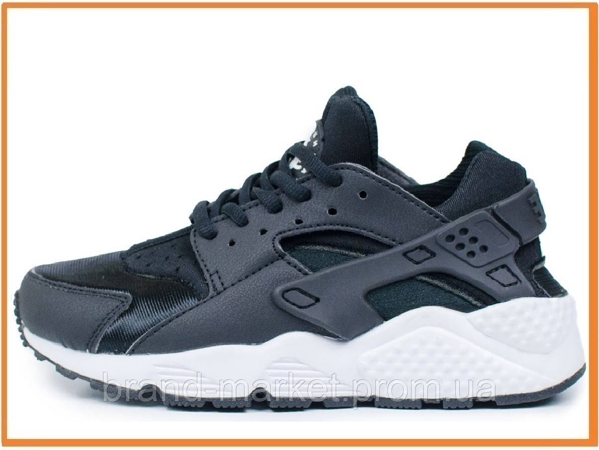 86b67530 Женские кроссовки Nike Air Huarache Black White (найк аир хуарачи, черные /  белые)