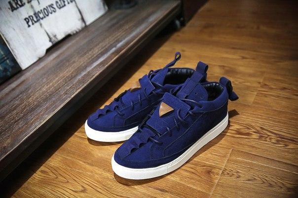 Синие ежедневные низкие кроссовки