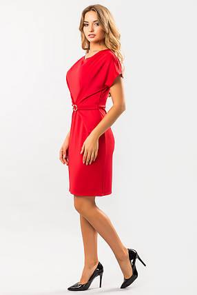 Красное платье с пряжкой, фото 2