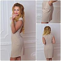 Платье, модель 746, цвет - бежевый