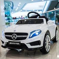 Детский электромобиль Мерседес АМГ Mercedes AMG M 3995 EBLR-1, белый, колеса EVA, кожа, пульт. Разные цвета.