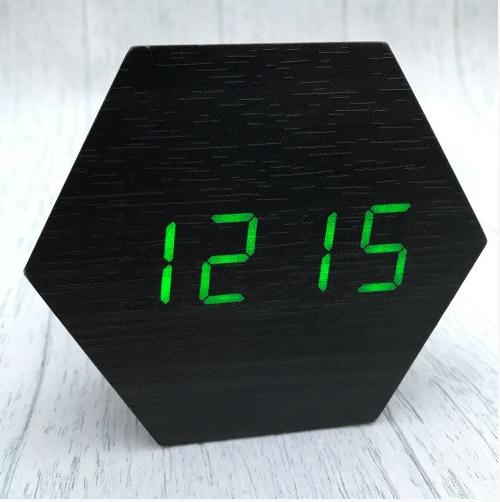 Настольные сетевые часы VST-876-4 зеленая подсветка