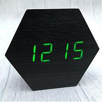 Настольные сетевые часы VST-876-4 зеленая подсветка, фото 1