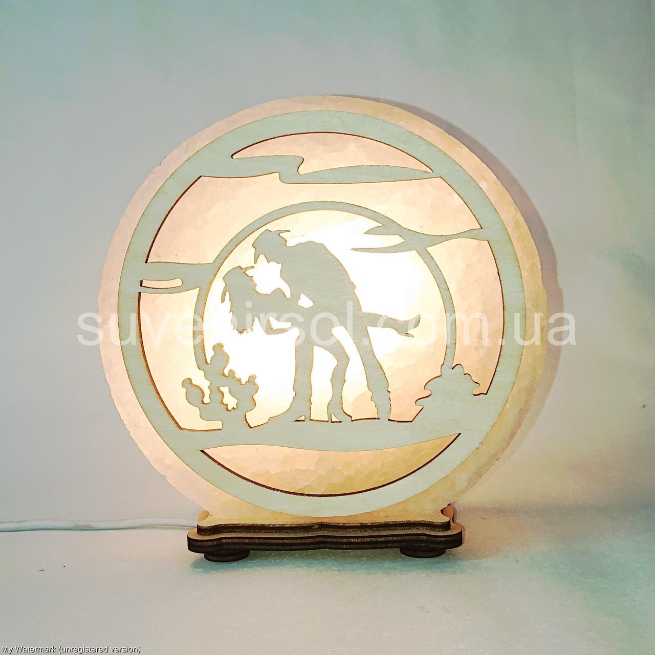 Соляной светильник круглый Джаз пара