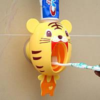 """Подвесной дозатор для зубной пасты детский """"Тигр"""""""