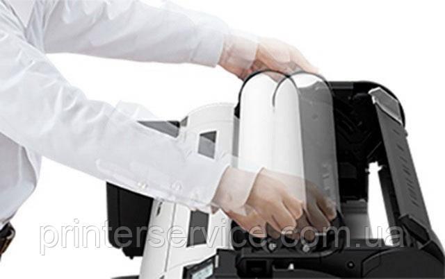 Установка бумаги в плоттер Canon tm-200