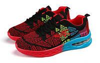 Красные кроссовки с градиентной подошвой, фото 1