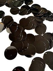 Пайетки сумочные 30 мм, цвет черный