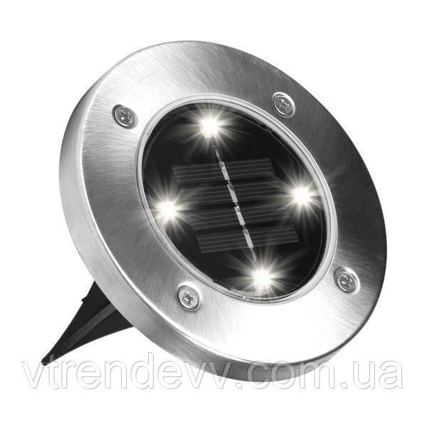 Уличный светильник на солнечной батарее Disk lights 4 светодиода