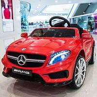 Детский электромобиль Мерседес АМГ Mercedes AMG M 3995 EBLR-3, красный, колеса EVA, кожа, пульт. Разные цвета.