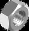 Гайка М10 шестигранная метрическая, сталь, кл. пр. 8, ЦБ (DIN 934) левая резьба