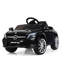Детский электромобиль Мерседес АМГ Mercedes AMG M 3995 EBLR-2, черный, колеса EVA, кожа, пульт. Разные цвета.