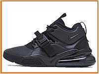 12c04d72 Мужские кроссовки Nike Air Force 270 Mid full Black (Найк Аир Форс 270  высокие,