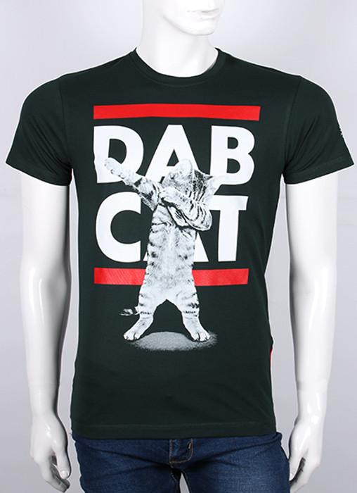 """Футболка подростковая Валимарк, черный, """"Dab Cat 19п049"""""""