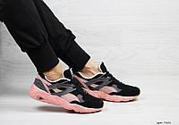 Puma Trinomic женские кроссовки черные с розовым (Реплика ААА+), фото 1