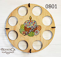 """Набор для вышивання крестиком на деревянной основе ФрузелОк """"Великодній натюрморт"""" 0801"""