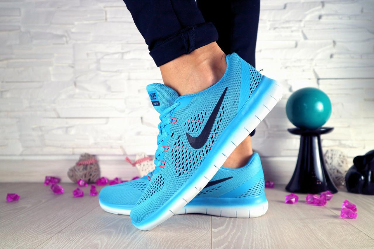 Кроссовки Classik B424 (Nike Zoom) (весна-осень, женские, сетка плотная, голубой)