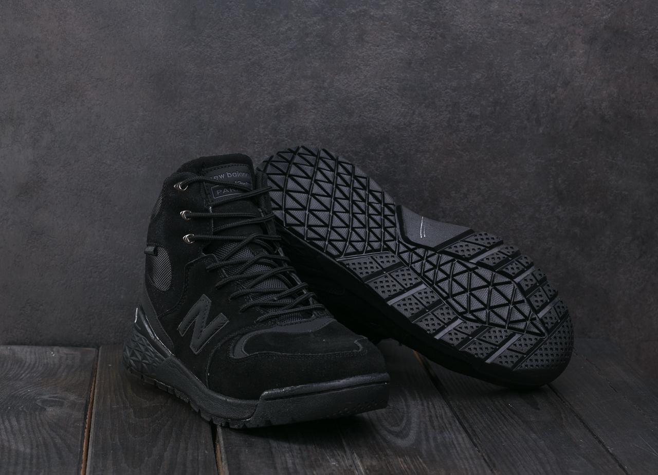 Кроссовки AМ819-1 W (New Balance) (зима, мужские, замш, черный)