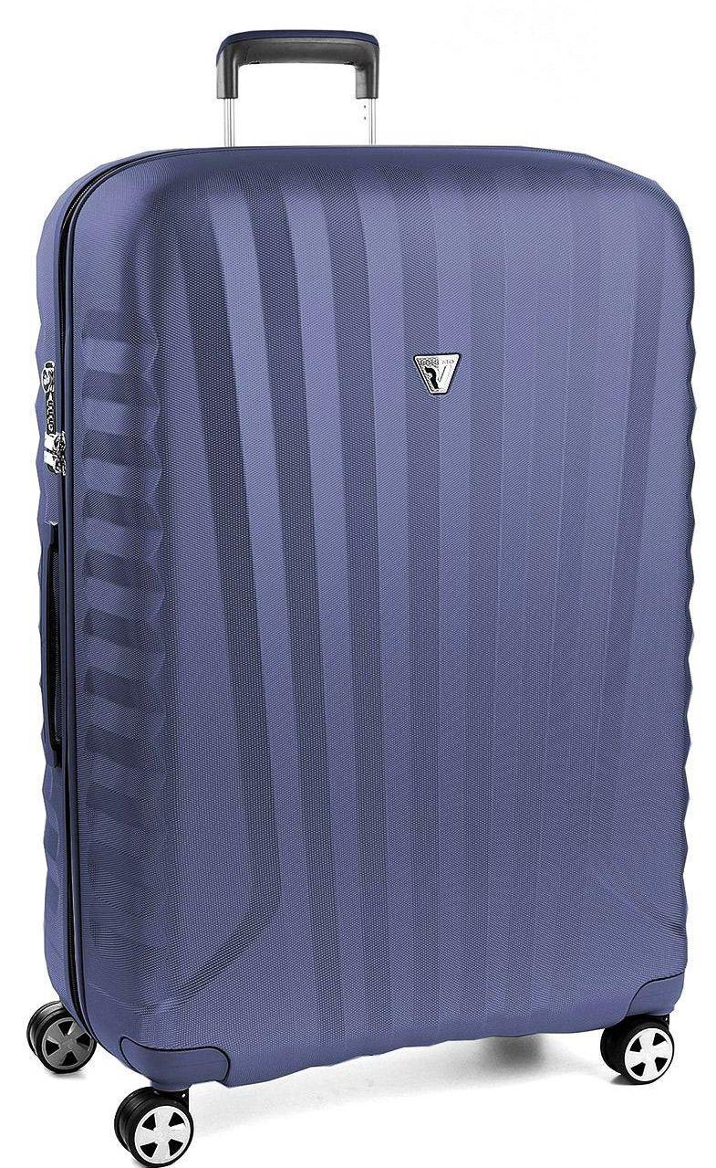 Гигантский чемодан пластиковый Roncato UNO ZSL PREMIUM 5467 03 03, 109л. синий