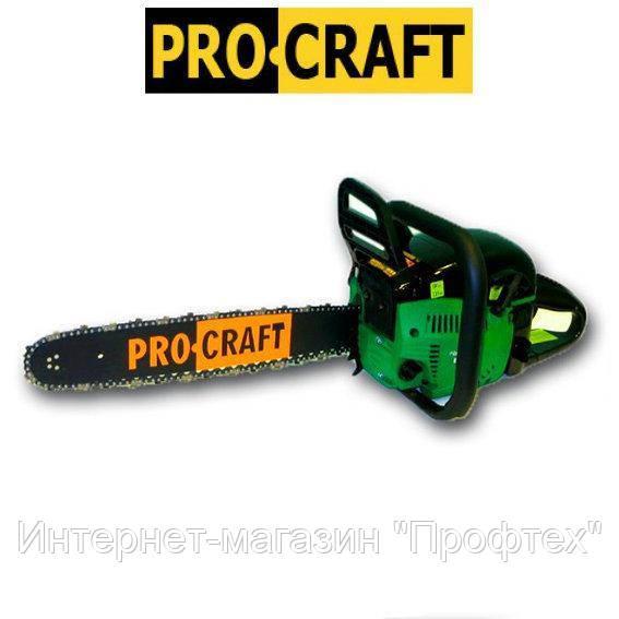 Бензопила PROCRAFT K450 профі метал (2шины 2цепи) плавний пуск При оплаті на карту-для Вас ОПТОВА ЦІНА