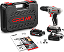 Шуруповерт аккумуляторный  Crown CT21055L 14.4V, фото 2