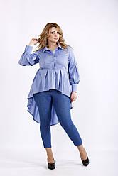 Блузка из поплина удлиненная сзади Разные цвета  Индивидуальный пошив