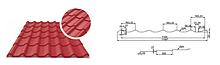 """Металлочерепица """"Арсенал 0.4 мм"""", полимерное покрытие глянец Китай"""
