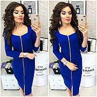 Платье женское, арт. 810, цвет - электрик / ярко синий