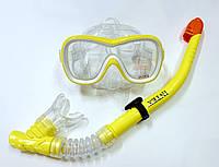 Набор для плавания маска + трубка INTEX желтый