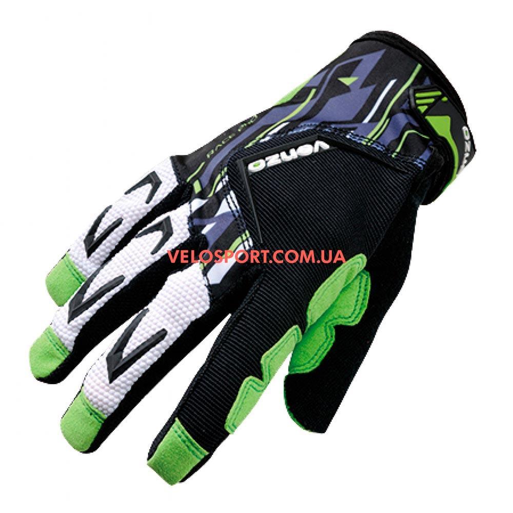 Велоперчатки VENZO VZ-F29-006 с пальцами М зеленые