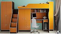 Детская Кровать-чердак с большими 2-мя шкафами КЧО 117