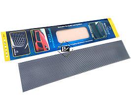 Декоративная сетка на решетку радиатора №2 черная (длина = 100 см, ширина 20 см)
