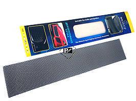 Декоративная сетка на решетку радиатора №3 черная (длина = 100 см, ширина 20 см)