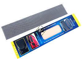 Декоративная сетка на решетку радиатора №5 черная (длина = 100 см, ширина 20 см)