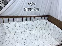 Бортики - защита в кроватку на четыре стороны кроватки