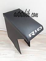 Подлокотник KIA RIO 3 (КИА РИО) цвет черный с вышивкой RIO