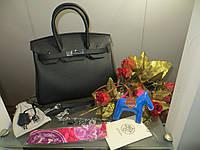 9edff37180af Женская сумка от Hermes 25 см черная шикарная сумка Original quality Гермес  Биркин Эрме
