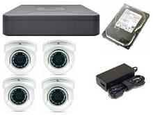Комплект видеонаблюдение  AHD Partizan 4 камеры 1080p c установкой