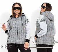 Короткая молодежная куртка с капюшоном с 48 по 54 размер, фото 1