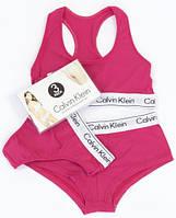 Женское нижнее белье Calvin Klein тройка - топ+стринги+шорты