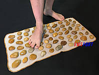 Массажный (ортопедический) коврик дорожка для детей с натуральной гальки (галькой) VMSport