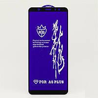 Защитное стекло RB 6D Full Glue для Samsung A6 Plus 2018 / A605 полноэкранное черное