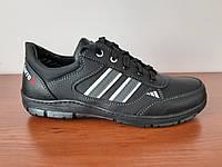 Чоловічі кросівки чорні прошиті, фото 1
