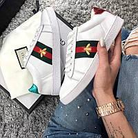 Мужские кроссовки Gucci R/G женские. Живое фото (Реплика ААА+) 38
