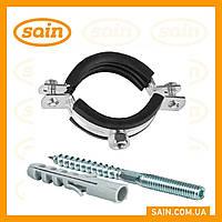 Хомут розбірної з шпилькою 4-long 110-120 мм ( для пластикової каналізації)