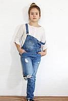 Комбинезон для девочки джинсовый