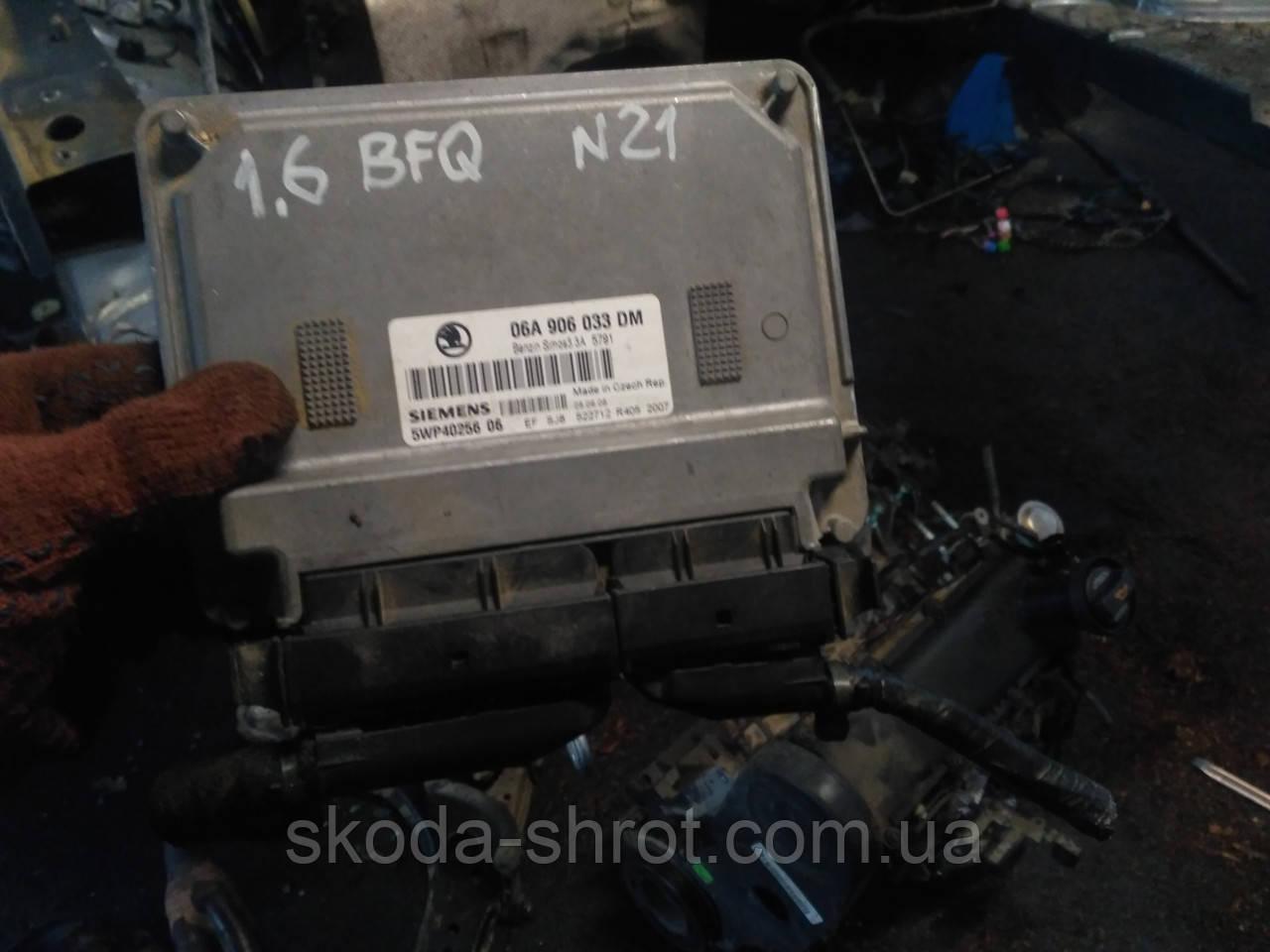 Блок управления двигателем  мозги Skoda Octavia BFQ 1,6 06A906033DM